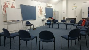 MBSR - chairs ready for sitting practice